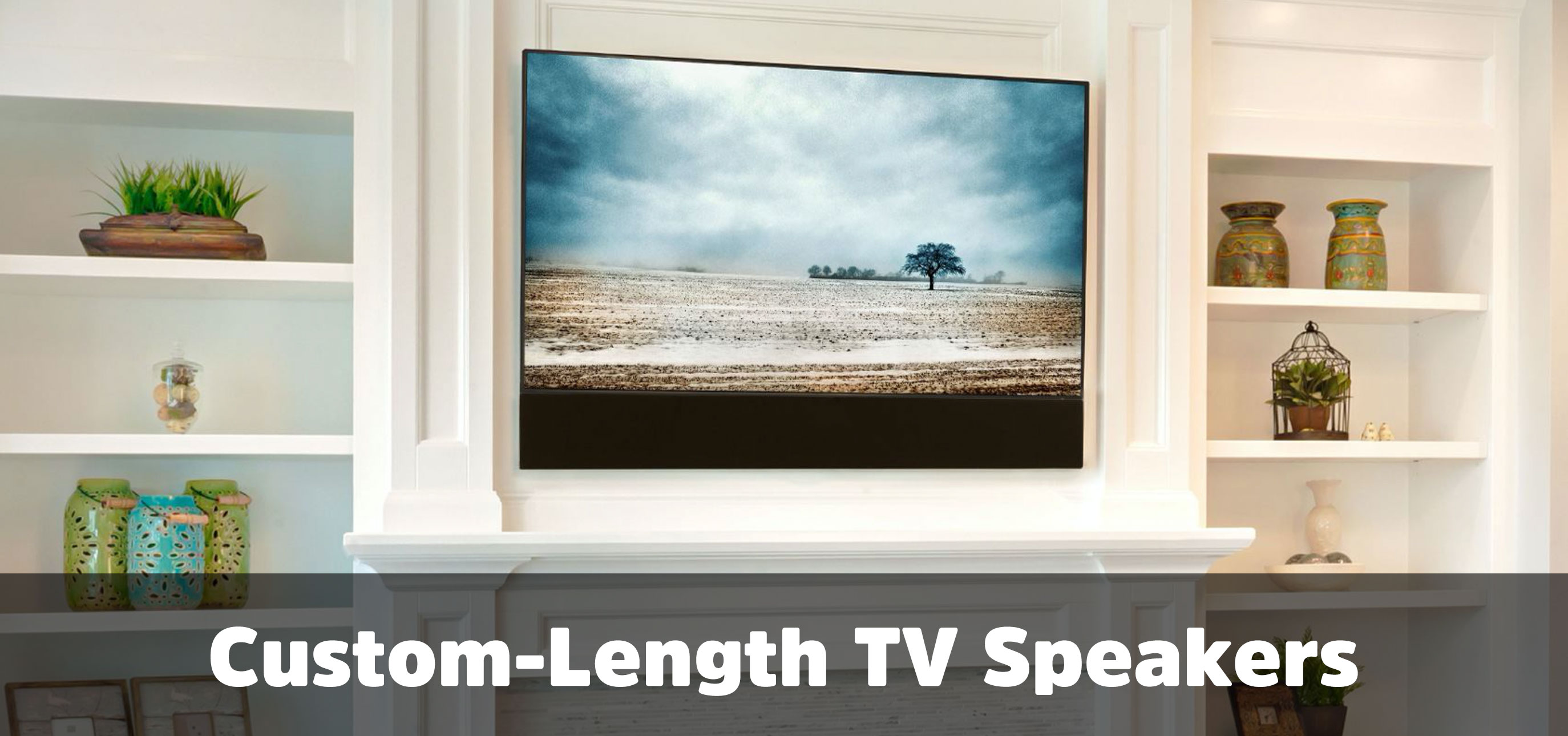 Custom length speakers for any flat panel TV | Decor Custom Collection
